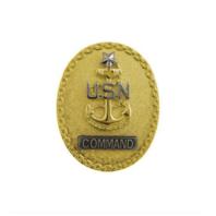 Vanguard NAVY BADGE: SENIOR ENLISTED ADVISOR E8 COMMAND CPO - MINIATURE