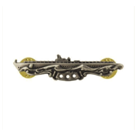 Vanguard NAVY BADGE: SUBMARINE COMBAT PATROL - MINIATURE, OXIDIZED