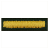 Vanguard ARMY EMBROIDERED BAR: OVERSEAS - EMBROIDERED GOLD ON GREEN, MALE