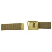 Vanguard MARINE CORPS BELT KHAKI COTTON W/OPEN FACE 24K GOLD PLATED BUCKLE & TIP