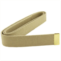 Vanguard NAVY BELT: KHAKI COTTON WITH 24K GOLD TIP - MALE