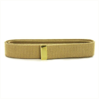 Vanguard NAVY BELT: KHAKI COTTON WITH BRASS TIP - MALE XL