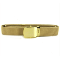 Vanguard NAVY BELT AND BUCKLE: KHAKI COTTON WITH BRASS BUCKLE AND TIP XL- MALE
