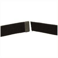 Vanguard ARMY BELT: BLACK COTTON WITH ARMY BLACK TIP - MALE