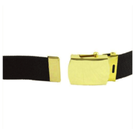 Vanguard ARMY BELT: BLACK COTTON WITH 22K GOLD FLASH BUCKLE AND TIP