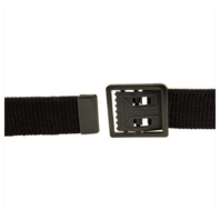 Vanguard ARMY BELT: BLACK ELASTIC WITH BLACK BUCKLE AND TIP