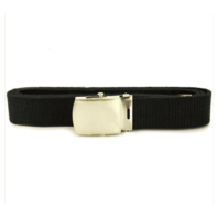 Vanguard NAVY BELT AND BUCKLE: BLACK NYLON NICKEL SILVER BUCKLE AND TIP MALE XL
