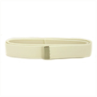 Vanguard NAVY BELT: WHITE CNT WITH SILVER MIRROR TIP EXTRA LONG - FEMALE