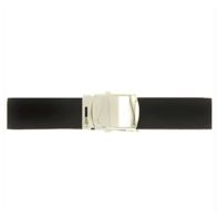 Vanguard USNSCC / NLCC BELT AND BUCKLE: BLACK POLY-WOOL MIRROR BUCKLE TIP FEMALE