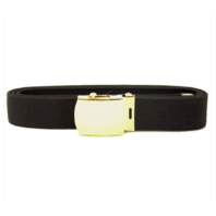Vanguard USNSCC / NLCC BELT AND BUCKLE: BLACK POLY-WOOL 24K GOLD BUCKLE AND TIP - FEMALE