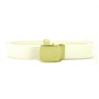 Vanguard NAVY BELT AND BUCKLE: WHITE CNT WITH 24K GOLD BUCKLE AND TIP - MALE XL