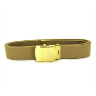 Vanguard NAVY BELT AND BUCKLE: KHAKI CNT WITH 24K GOLD BUCKLE AND TIP - MALE