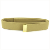 Vanguard NAVY BELT: KHAKI POLY-WOOL WITH 24K GOLD TIP - MALE