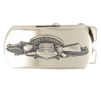 Vanguard Navy Expeditionary Warfare Specialist Belt Buckle- Oxidized Emblem
