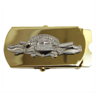 Vanguard Navy Expeditionary Warfare Specialist CPO Belt Buckle- Gold and Silver