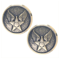 Vanguard AIR FORCE BUTTON: WAF HAP ARNOLD - 20 LIGNE SILVER OXIDIZED