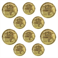 Vanguard ARMY BUTTON SET: ENGINEER 4X36 LIGNE AND 6X25 LIGNE