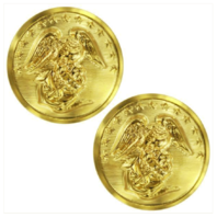 Vanguard MARINE CORPS BUTTON: 40 LIGNE - 24K GOLD PLATED