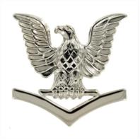Vanguard NAVY CAP DEVICE: E4 PETTY OFFICER THIRD CLASS - SILVER
