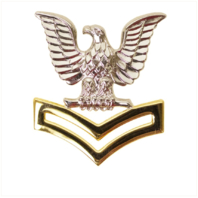 Vanguard NAVY CAP DEVICE: E5 GOOD CONDUCT - SILVER EAGLE WITH GOLD CHEVRONS