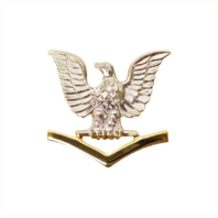 Vanguard NAVY CAP DEVICE: E4 GOOD CONDUCT - SILVER EAGLE WITH GOLD CHEVRONS