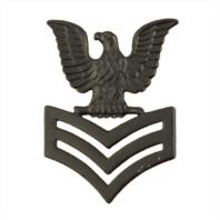 Vanguard NAVY CAP DEVICE: E6 PETTY OFFICER FIRST CLASS - BLACK METAL
