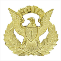Vanguard ARMY ROTC CAP DEVICE: FEMALE OFFICER WREATH - GOLD WITH EAGLE