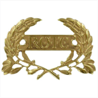 Vanguard ARMY ROTC CAP DEVICE: ENLISTED WREATH - BRASS