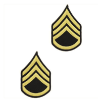 Vanguard ARMY CHEVRON: STAFF SERGEANT - GOLD EMBROIDERED ON BLUE, MALE