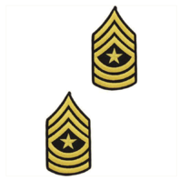 Vanguard ARMY CHEVRON: SERGEANT MAJOR - GOLD EMBROIDERED ON BLUE, MALE