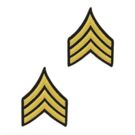 Vanguard ARMY CHEVRON: SERGEANT - GOLD EMBROIDERED ON BLUE, FEMALE
