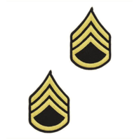 Vanguard ARMY CHEVRON: STAFF SERGEANT - GOLD EMBROIDERED ON BLUE, FEMALE