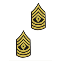 Vanguard ARMY CHEVRON: FIRST SERGEANT - GOLD EMBROIDERED ON BLUE, FEMALE