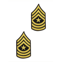 Vanguard ARMY CHEVRON: SERGEANT MAJOR - GOLD EMBROIDERED ON BLUE, FEMALE