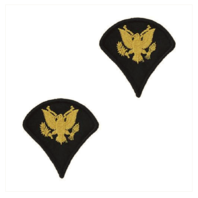 Vanguard ARMY CHEVRON: SPECIALIST 4 - GOLD EMBROIDERED ON BLUE, FEMALE