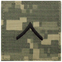Vanguard ARMY EMBROIDERED ACU WITH HOOK RANK INSIGNIA: PRIVATE