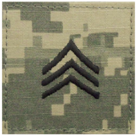 Vanguard ARMY EMBROIDERED ACU RANK INSIGNIA: SERGEANT