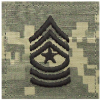 Vanguard ARMY EMBROIDERED ACU RANK INSIGNIA: SERGEANT MAJOR