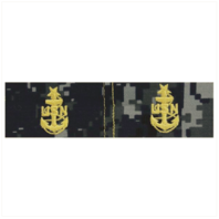 Vanguard NAVY EMBROIDERED COLLAR DEVICE: E8 CPO: SENIOR - TYPE I BLUE DIGITAL