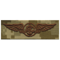 Vanguard NAVY EMBROIDERED BADGE: AIRCREW - DESERT DIGITAL
