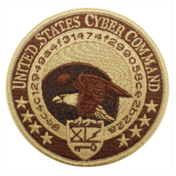 Vanguard NAVY EMBROIDERED BADGE: US CYBER COMMAND - DESERT DIGITAL