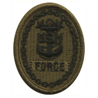 Vanguard NAVY EMBROIDERED BADGE: FORCE E-9 - WOODLAND DIGITAL