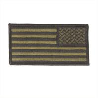 Vanguard FLAG PATCH: U.S. FLAG REVERSE FIELD - EMBROIDERED WOODLAND DIGITAL
