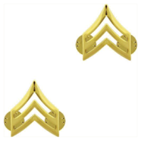 Vanguard ARMY CHEVRON: SERGEANT - 22K GOLD PLATED