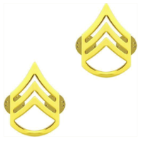 Vanguard ARMY CHEVRON: STAFF SERGEANT - 22K GOLD PLATED