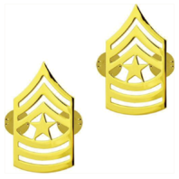 Vanguard ARMY CHEVRON: SERGEANT MAJOR - 22K GOLD PLATED