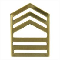 Vanguard ARMY ROTC CHEVRON: MASTER SERGEANT - BRASS