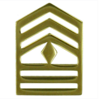 Vanguard ARMY ROTC CHEVRON: FIRST SERGEANT - BRASS
