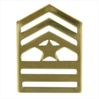 Vanguard ARMY ROTC CHEVRON: SERGEANT MAJOR - BRASS