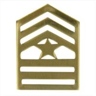 Vanguard ARMY ROTC CHEVRON: SERGEANT MAJOR - BRASS (Pair)